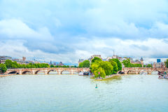 Pont neuf bridge and Seine river in Paris, France Royalty Free Stock Photo