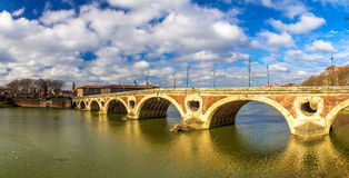 Pont Neuf, a bridge in Toulouse Royalty Free Stock Photo