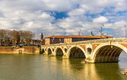 Pont Neuf, a bridge in Toulouse Royalty Free Stock Photography
