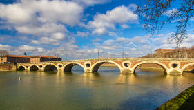Pont Neuf, a bridge in Toulouse Stock Image