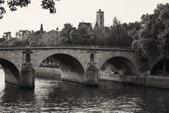 Pont Neuf bro i Paris Arkivbilder