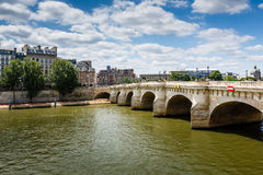 Pont Neuf and Cite Island in Paris Royalty Free Stock Photo