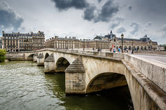 Pont Neuf and Cite Island in Paris Royalty Free Stock Photography
