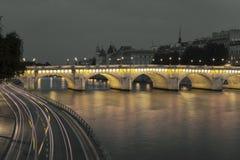 Pont Neuf e Seine, Paris Imagem de Stock