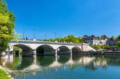 Pont-Neuf, een brug in Cognac, Frankrijk stock fotografie