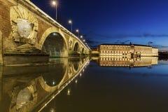 Pont Neuf en Toulouse Imagenes de archivo