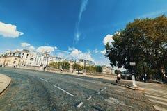 Pont Neuf i Quai De Conti rozdroże fotografia royalty free