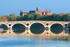 Pont Neuf i Toulouse Royaltyfri Fotografi