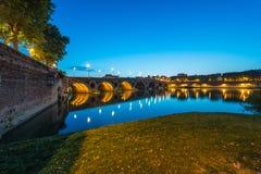 Pont Neuf i Toulouse, Frankrike Royaltyfri Bild