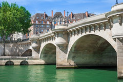 Pont Neuf, Ile de la Menção, Paris - França Imagens de Stock