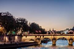 Pont Neuf, le pont debout le plus ancien sur la Seine dans Pari photos libres de droits