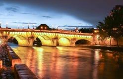 The Pont Neuf Neuf Bridge of Paris at dawn. Stock Photos