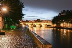 The Pont Neuf Neuf Bridge of Paris at dawn. Royalty Free Stock Image