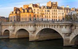 The Pont Neuf New Bridge and Seine river , Paris, France. The Pont Neuf New Bridge , the oldest standing bridge across the river Seine in Paris, France Royalty Free Stock Photography