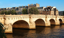 The Pont Neuf New Bridge and Seine river, Paris, France. Royalty Free Stock Photo