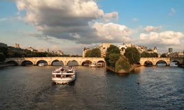The Pont Neuf New Bridge and Seine river, Paris, France. Royalty Free Stock Images