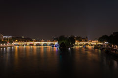 Pont Neuf by night Royalty Free Stock Photo
