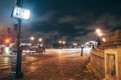 Pont Neuf at night Royalty Free Stock Images
