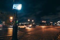 Pont Neuf at night Stock Photo