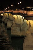 Pont Neuf by night in Paris Stock Photo