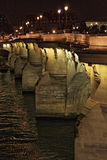 Pont Neuf by night in Paris - HDR Royalty Free Stock Photo