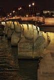 Pont Neuf nocą w Paryż, HDR - Zdjęcie Royalty Free