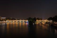 Pont Neuf nocą Zdjęcie Royalty Free