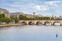 Pont Neuf. Oldest bridge across Seine river in Paris Royalty Free Stock Images
