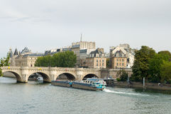 The Pont Neuf is the oldest standing bridge across the river Seine in Paris, France Royalty Free Stock Photography