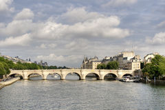 Pont Neuf overview. Overview of the Pont Neuf (French for New Bridge), the oldest bridge across the river Seine in Paris France Stock Images