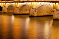 Pont Neuf in Paris at night Stock Photo
