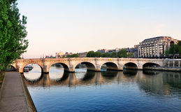 Pont Neuf and the river Seine, Paris. Pont Neuf in Paris, France. The picture was taken in the morning Stock Images