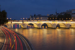 Pont Neuf and Seine, Paris Royalty Free Stock Photos