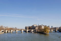 Pont Neuf and Seine river Stock Photography