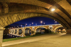 Pont Neuf in Toulouse Stock Foto