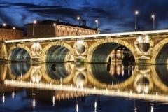 Pont Neuf in Toulouse stockfotografie