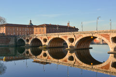 Pont Neuf in Toulouse. Pont Neuf of Toulouse in France Royalty Free Stock Photo