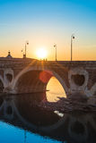 Pont Neuf in Toulouse, France. Stock Photos