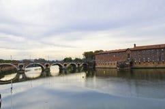 Bridge dusk French  Stock Photo
