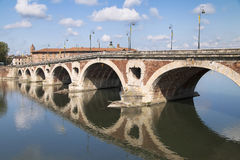 Pont Neuf of Toulouse. Pont Neuf over the Garonne river in Toulouse, France Stock Photos