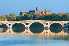 Pont Neuf in Toulouse. The Pont Neuf in Toulouse in a sunny summer day Royalty Free Stock Photography