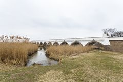 pont Neuf-troué en Hongrie photo libre de droits