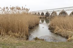 pont Neuf-troué en Hongrie photos libres de droits