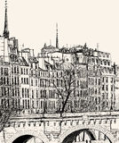 Pont Neuf w Paryż Obrazy Royalty Free
