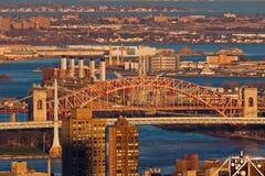 Pont New York City en porte d'enfers Image libre de droits