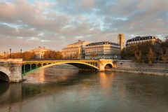 Pont Notre-Dame, Paris, France Stock Images