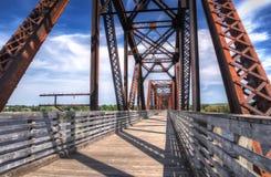 Pont Nouveau Brunswick en chemin de fer Images stock
