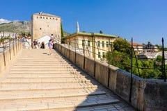 Pont nouveau vieux de Mostar Images libres de droits
