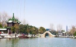 Pont occidental mince du lac vingt-quatre Photo libre de droits