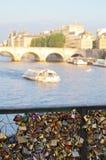 Pont Paris d'amour Photo stock